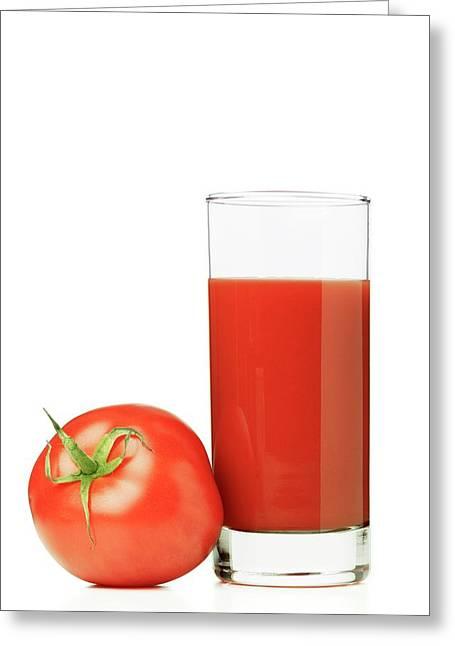 Tomato Juice Greeting Card by Wladimir Bulgar