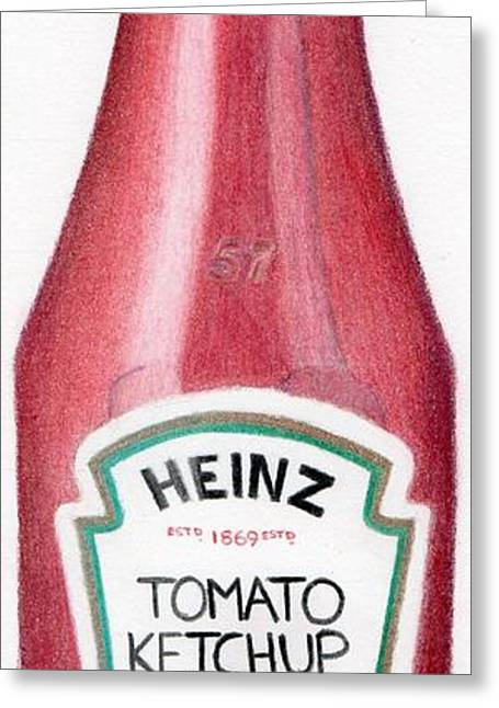 Tomato Ketchup Greeting Card by Bav Patel