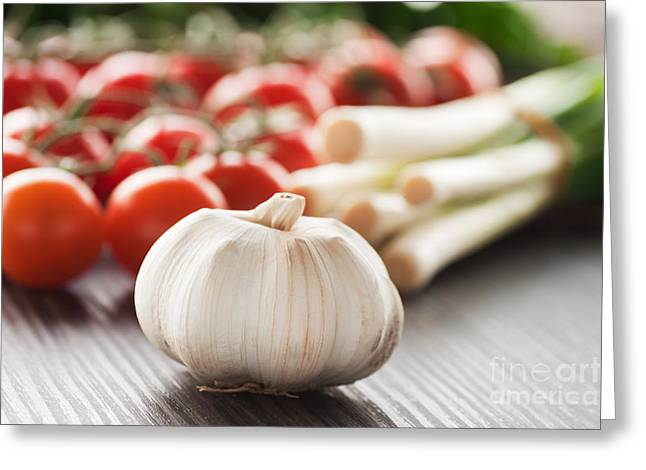 Tomato Sauce Ingredients Greeting Card by Mythja  Photography