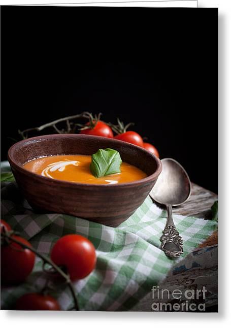Tomato Soup Greeting Card by Kati Molin