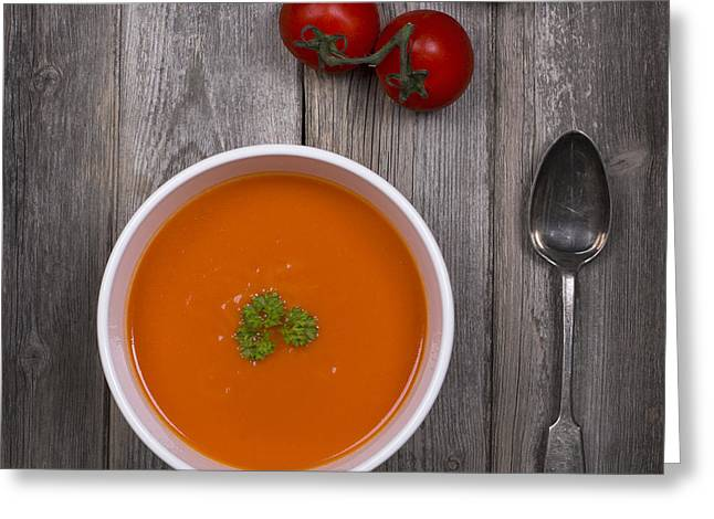 Tomato Soup Vintage Greeting Card by Jane Rix