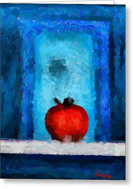 Tomato Tnm Greeting Card by Vincent DiNovici