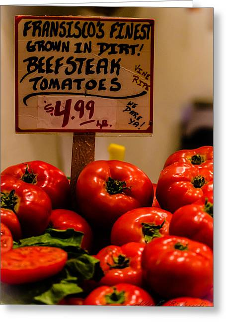 Greeting Card featuring the photograph Tomatoes by Allen Biedrzycki
