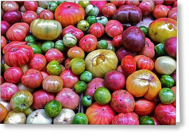 Tomatoes Greeting Card by Bill Owen