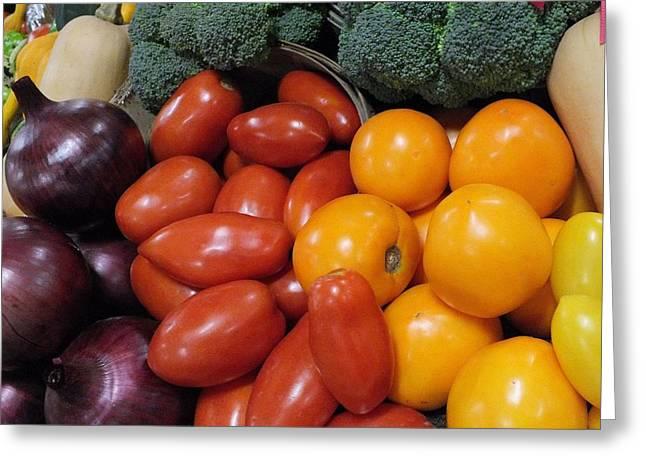 Tomatoes Etc Greeting Card by Christina Shaskus