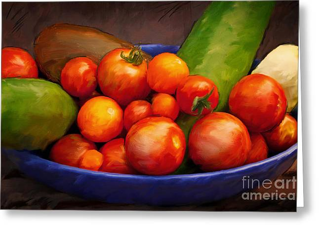 Tomato Greeting Cards - Tomatoes Greeting Card by Lutz Baar