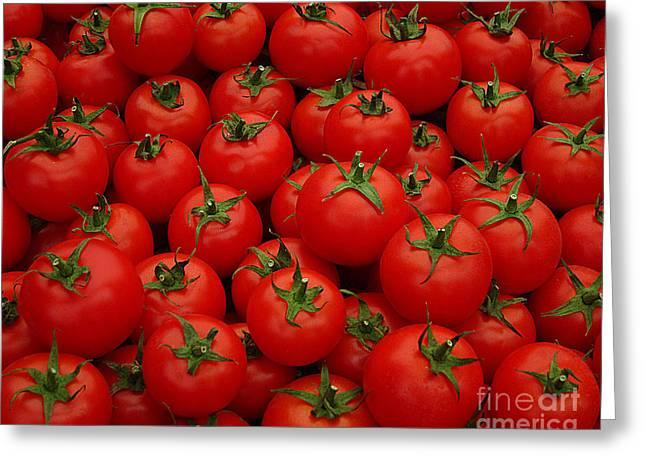 Tomatos Greeting Card by Emily Kay