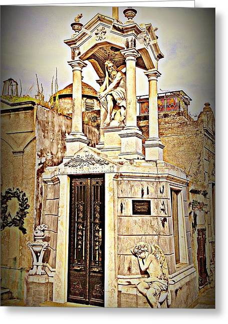 Tomb In Recoleta Cemetary Buenos Aries Greeting Card