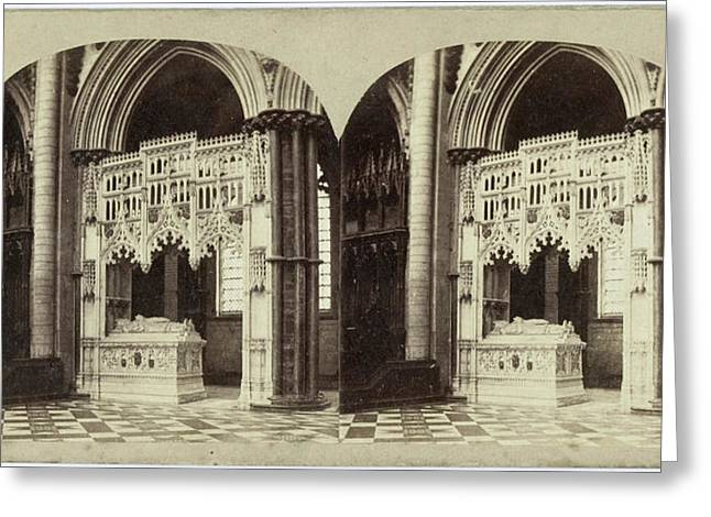 Tomb Of Bishop Redmayn, Ely Cathedral, Uk Greeting Card by Artokoloro