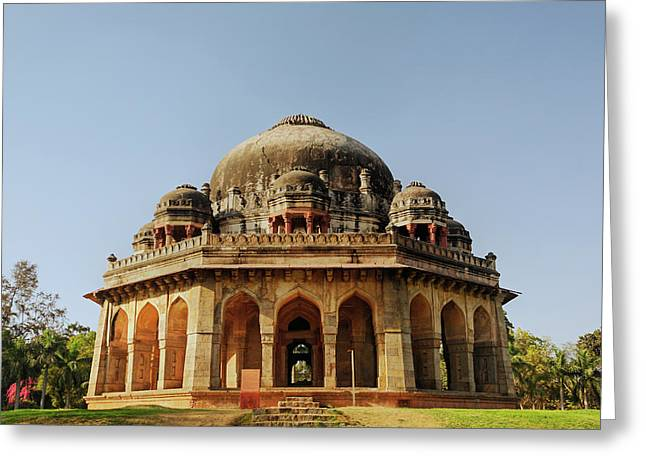 Tomb Of Mohammed Shah / Lodhi Gardens Greeting Card by Adam Jones
