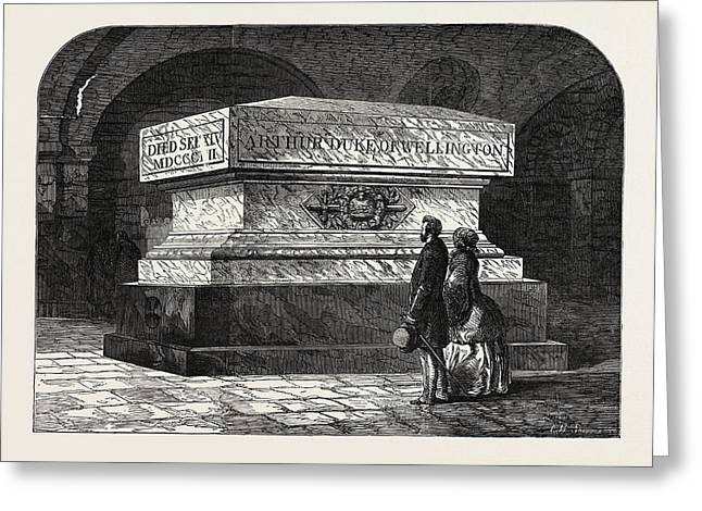 Tomb Of The Late Duke Of Wellington In The Crypt Of St Greeting Card