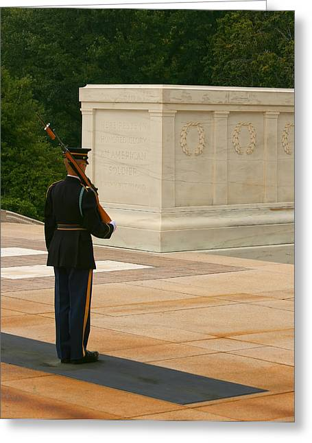 Tomb Of The Unknown Soldier Greeting Card by Kim Hojnacki