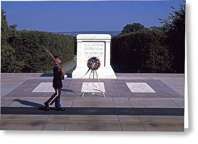 Tomb Of The Unknown Soldier Greeting Card by Mountain Dreams