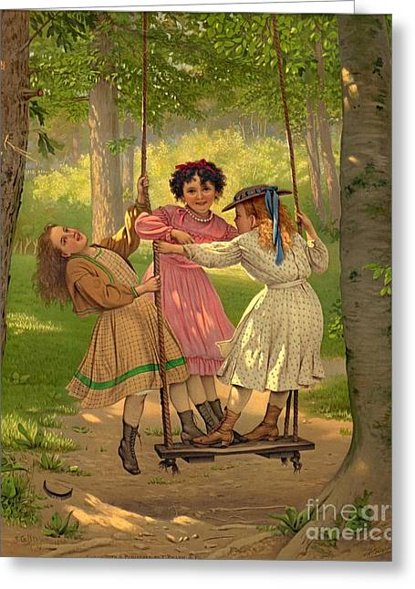 Tomboys 1868 Greeting Card by Padre Art