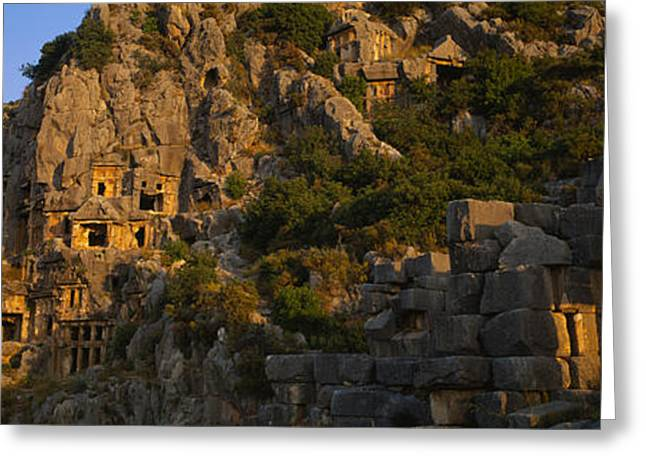 Tombs On A Cliff, Lycian Rock Tomb Greeting Card