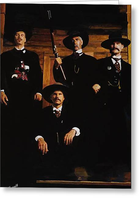 Tombstone -this Is A Painting Not A Photo Greeting Card