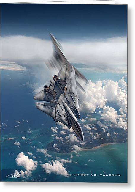 Tomcat Vs Fulcrum Greeting Card by Peter Van Stigt