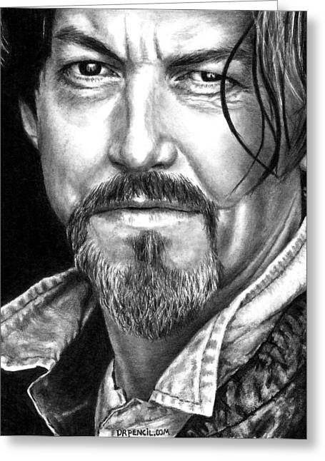 Tommy Flanagan As Chibs Greeting Card by Rick Fortson
