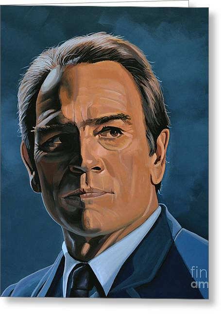 Tommy Lee Jones Greeting Card