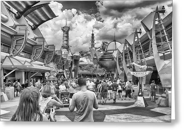 Greeting Card featuring the photograph Tomorrowland by Howard Salmon