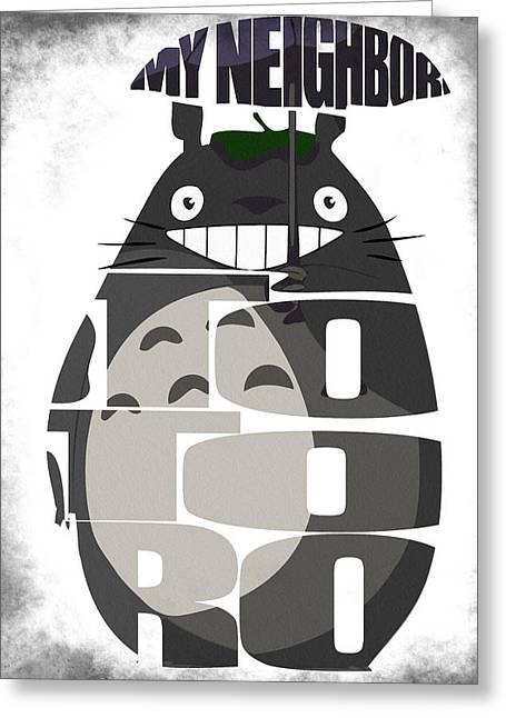Tonari No Totoro - My Neighbor Totoro Greeting Card by Ayse Deniz