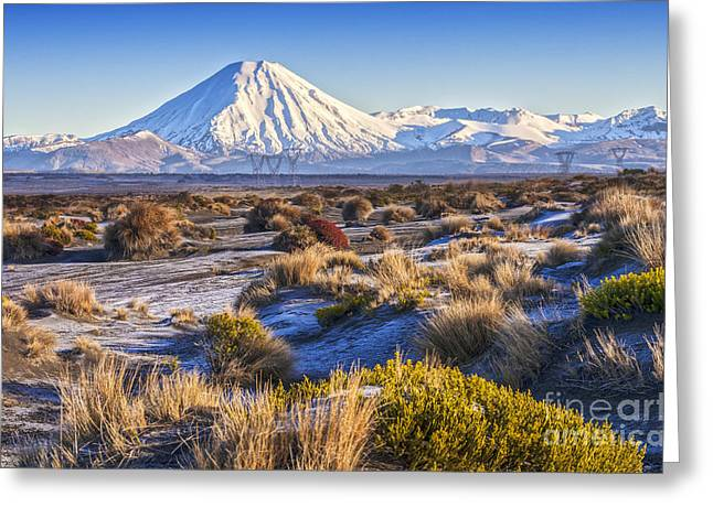 Tongariro National Park New Zealand Greeting Card by Colin and Linda McKie