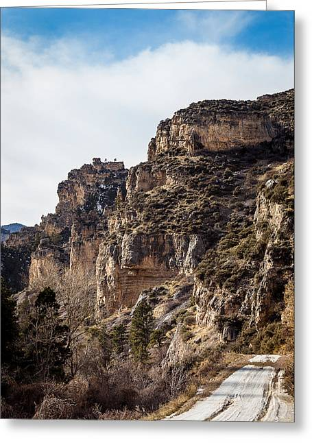 Tongue River Canyon Greeting Card