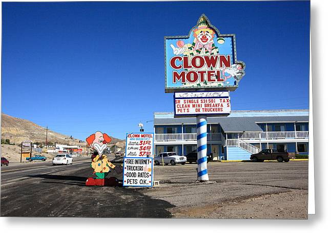 Tonopah Nevada - Clown Motel Greeting Card by Frank Romeo