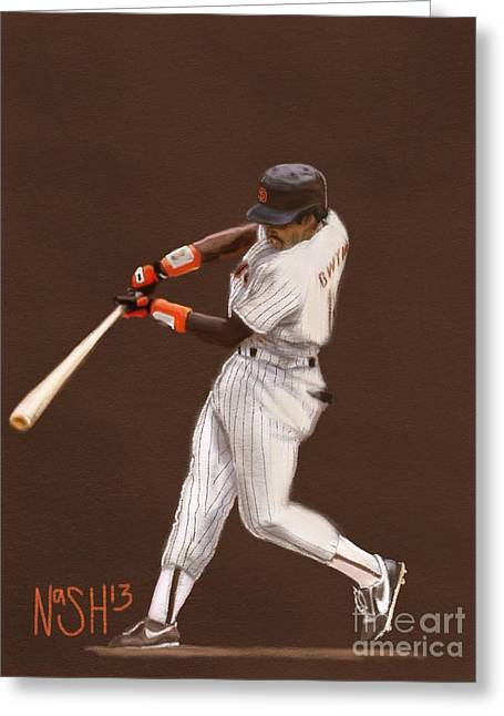 Tony Gwynn Greeting Card by Jeremy Nash