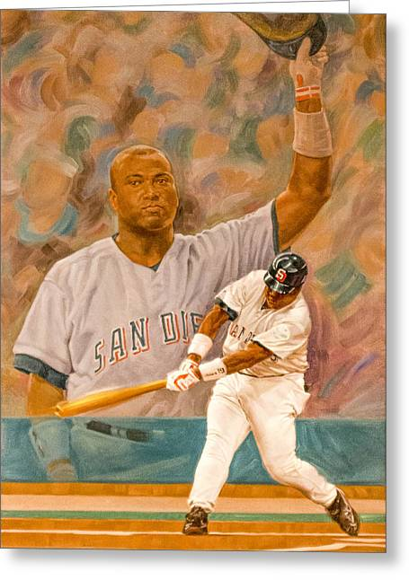 Tony Gwynn Greeting Card by Photographic Art by Russel Ray Photos