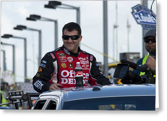Tony Stewart 20 Introduction Greeting Card