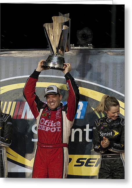 Tony Stewart Cup Champ 3 Greeting Card