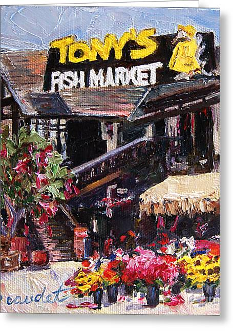 Tony's On The Redondo Pier Greeting Card