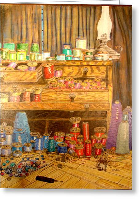 Tool Chest With Thimbles Greeting Card by Joseph Hawkins