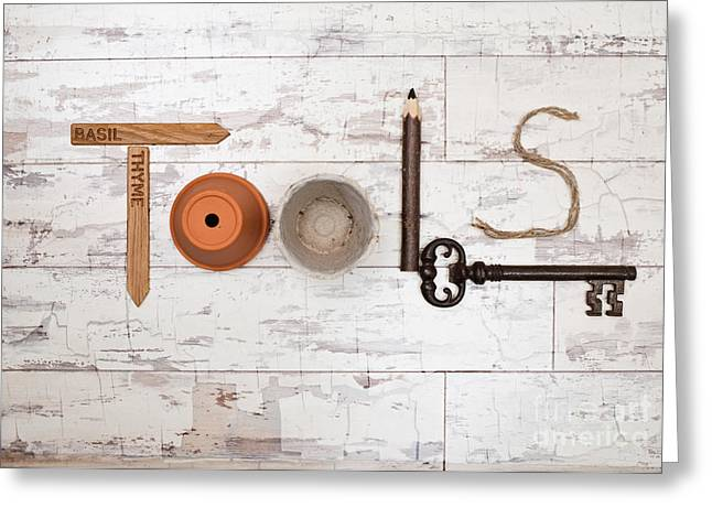 Tools Greeting Card by Amanda Elwell