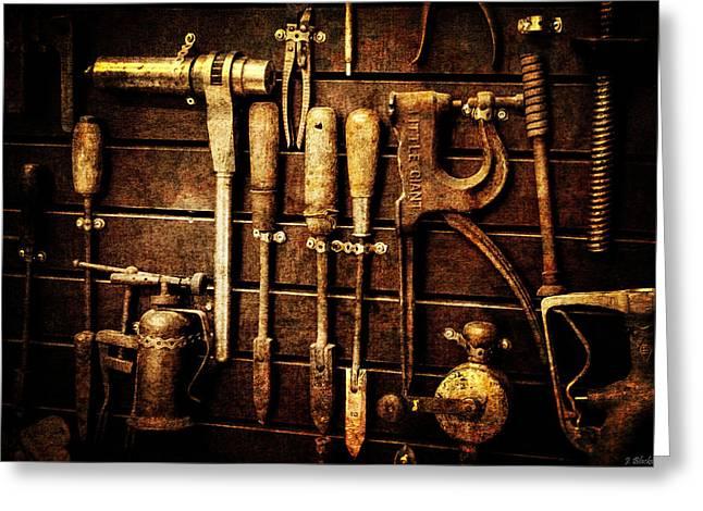 Tools Of The Trade Greeting Card by Jordan Blackstone