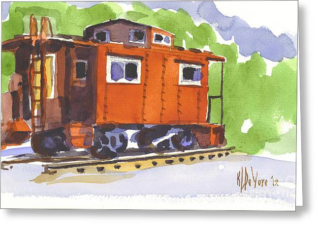 Toot Toot Greeting Card by Kip DeVore