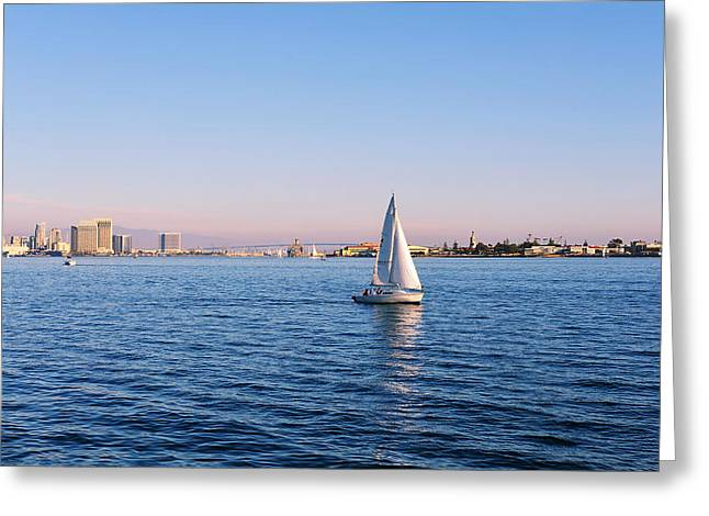 Top Destination San Diego Greeting Card by Christine Till