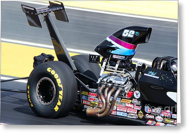 Top Dragster Greeting Card by Beverly Guilliams