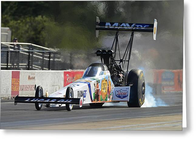 Top Fuel Dragster Greeting Card by Gianfranco Weiss