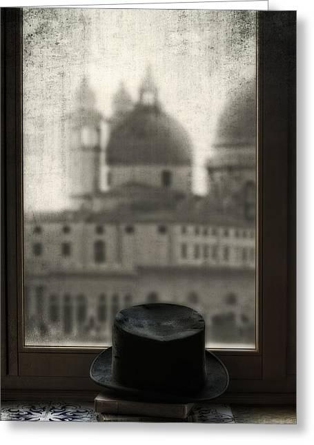 Top Hat Greeting Card by Joana Kruse
