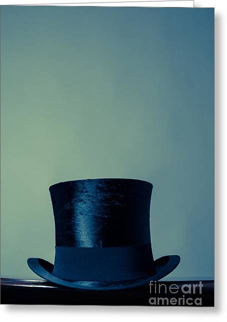 Top Hat Greeting Card by Wolf Kettler