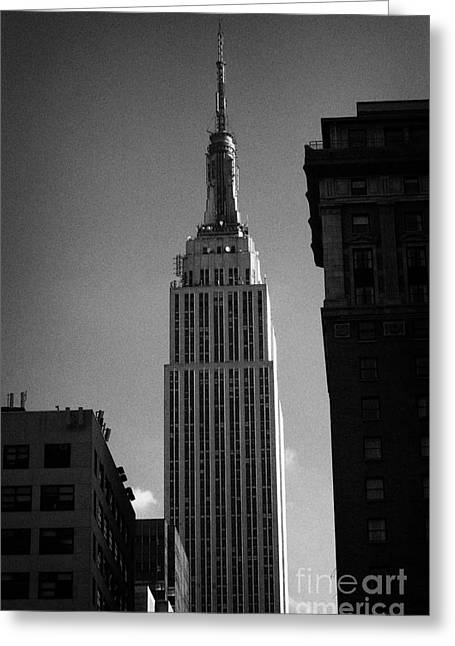 Top Of Empire State Building Manhattan New York City Greeting Card