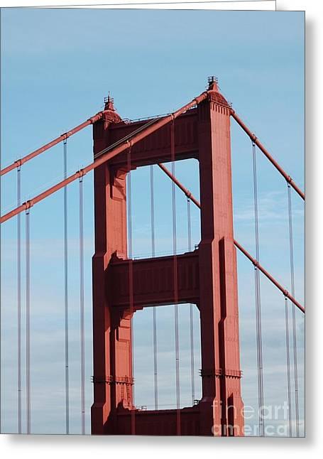 Top Of Golden Gate Bridge Greeting Card