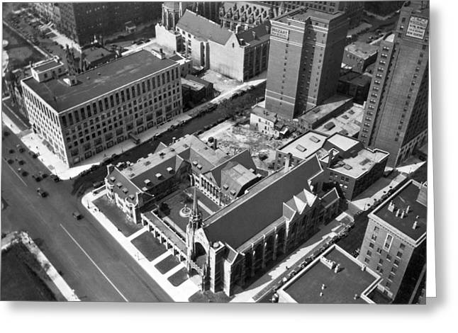 Top Of Palmolive Building View Greeting Card