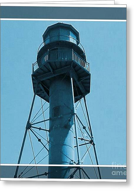 Greeting Card featuring the photograph Top Of Sanibel Island Lighthouse by Janette Boyd