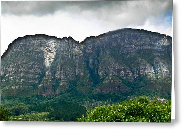 Top Of Table Mountain Greeting Card