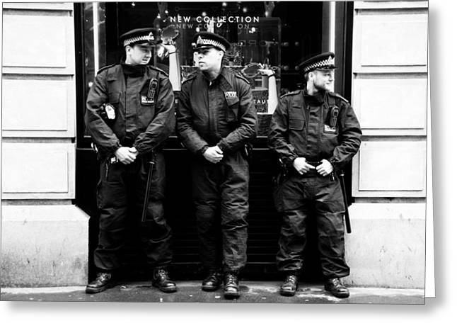 Top Of The Cops Greeting Card by Jez C Self