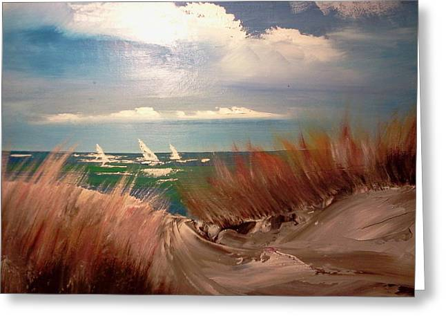 Top Of The Dune Greeting Card by Joseph Gallant