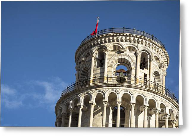 Top Of The Leaning Tower Of Pisa Greeting Card